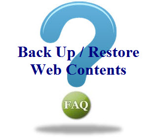 how to backup and restore website